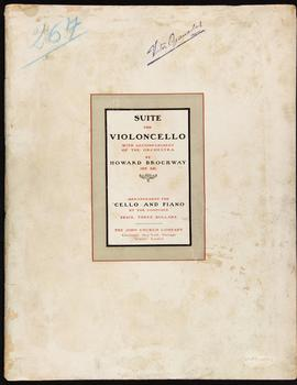 Suite for violoncello with accompaniment of the orchestra