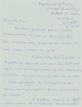 Carta de Mark Larrad a Antoni Carreras