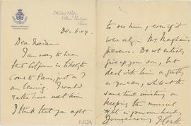 Carta de Francis Burdett Money-Coutts a Rosina Jordana